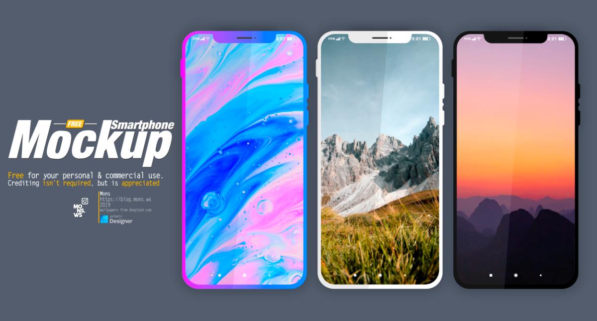 Бесплатные шаблоны смартфона (mockups)