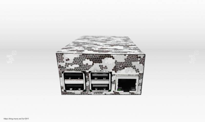 Корпус из картона для Raspberry Pi 4 Model B