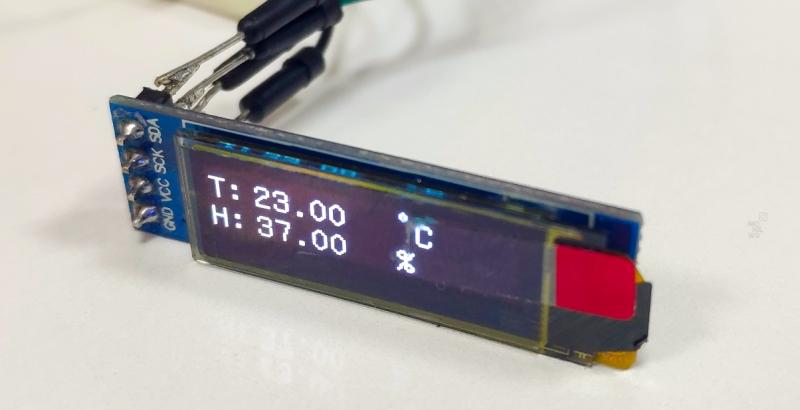 Мониторинг температуры и влажности с использованием Arduino Nano, DHT11 и OLED 0,91-дюймового дисплея
